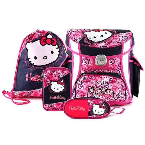 Školní aktovka Target Hello Kitty 4 dílný set empty 388dcd7bab