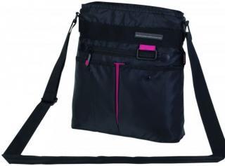 Textilní kabelka Creps / BL1032 black/c. flower